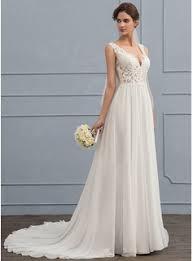 chiffon wedding dresses a line princess v neck court chiffon wedding dress