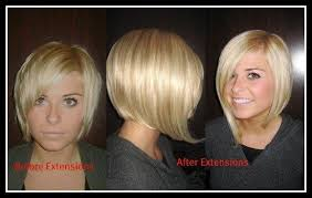 extensions on very very short hair hair extensions for very short hair before and after photos