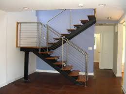 double stringer steel staircases with wood treads in nyc u0026 ct
