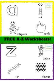 free printable alphabet worksheets for preschoolers u0026 kindergarten