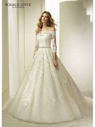 plus size wedding dresses with sleeves or jackets ronald joyce 69283 sleeve bridal jacket plus size ivory