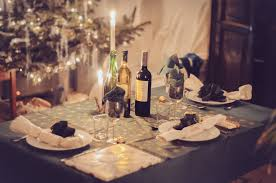 dinner table wine christmas tree u2014 bossfight