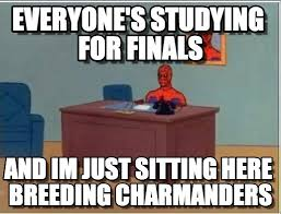 Studying For Finals Meme - everyone s studying for finals spiderman desk meme on memegen