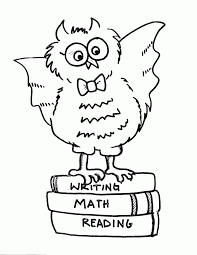 owl template kids coloring