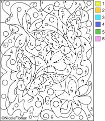 the most stylish and beautiful free color by number pages intended
