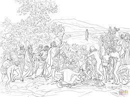 the apparition of christ to the people coloring page free