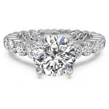 semi mount engagement rings ritani shared prong band white gold semi mount