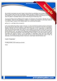 Hdfc Power Of Attorney Filled Sample by Free Printable Articles Of Association Sample Printable Legal