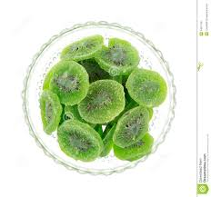 dried kiwi fruit in bowl top view royalty free stock photos