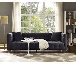 Grey Velvet Sofas Bea Grey Velvet Sofa Tov S100 Tov Furniture