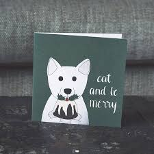 arctic fox and christmas pudding festive card by lil3birdy