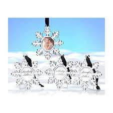 kate aspen snowflake place card holder ornament set