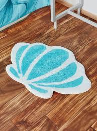 Aqua Bathroom Rugs by Disney The Little Mermaid Seashell Bath Rug Hot Topic
