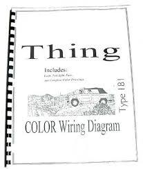 volkswagen thing type 181 color wiring diagram booklet 10 via