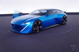 futuristic cars peugeot u0027s instinct concept car is its vision of an autonomous near