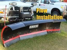 hiniker snow plow installation 2012 dodge ram 3500 youtube