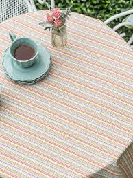 Coffee Table Cloth by Confetti Stripe Tablecloth Attic Sale Linens U0026 Kitchen Attic