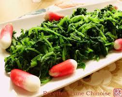 recettes d une chinoise salade de fanes de radis 凉拌小萝卜缨