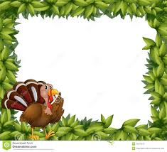 a green frame border with a turkey stock photography image 33073372