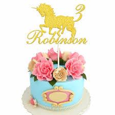 unicorn cake topper personalised custom unicorn cake topper in glitter silver gold