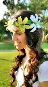 white flower headband hair accessory flower crown yellow flower crown white flower
