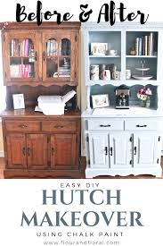 can i use chalk paint to paint my kitchen cabinets the easiest diy hutch makeover using chalk paint