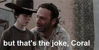 Rick Grimes Crying Meme - awesome rick grimes crying meme but that s the joke coral meh