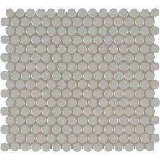penny  mosaic tile  tile  the home depot with gray glossy penny round  from homedepotcom