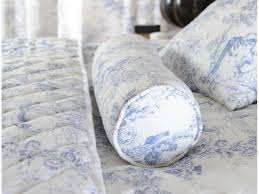 toile de jouy china blue bedspreads