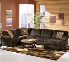 Ashelys Furniture Ashley Furniture Vista Chocolate Casual 3 Piece Sectional With