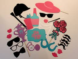 preppy kentucky derby photo booth props set of 26 includes
