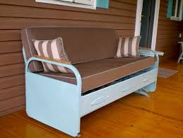 impressive porch glider in porch farmhouse with outdoor daybed
