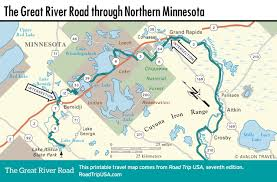 Map Of Minnesota Cities The Great River Road Road Trip Usa