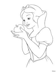 snow white dwarfs coloring pages disney