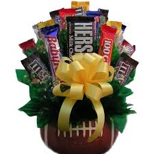 football gift baskets football candy bouquet candy gift baskets arttowngifts
