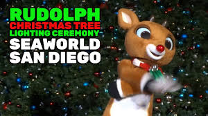 rudolph the red nosed reindeer christmas tree lighting ceremony at