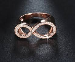 rose promise rings images Rose gold platinum plated infinity promise ring for her new jpg