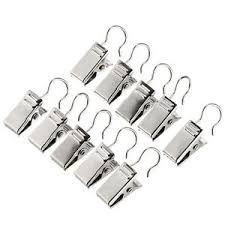 Curtain Hook With Clip 20pcs Stainless Steel Shower Window Curtain Rod Hook
