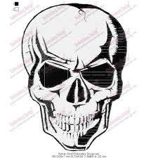 human skull embroidery design