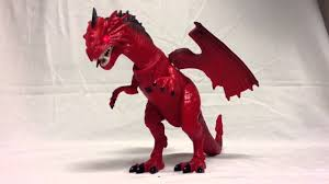 fierce red dragon toy youtube