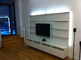 Media Storage Shelves by Furniture Brown Wooden Floating Media Cabinet Combined With Cream