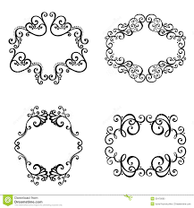 vector decorative ornamental frame for text stock vector image