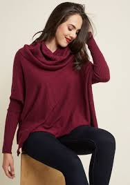 maroon sweater a cozy touch sweater in burgundy modcloth