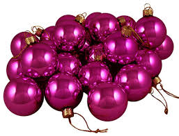 club pack of 36 shiny fuschia glass ornaments