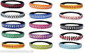 softball headbands softball headbands u color or yellow leather seam sport team