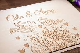 personalized wedding guest book wedding guest book personalized wedding guestbook rustic guest