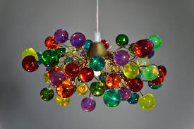 pendant light colorful bubbles ceiling light fixture for