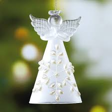 glass snow ornament current catalog