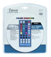 tape lights with remote patriot lighting 16 flexible led tape light with remote at menards