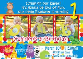 Birthday Invitation Card For Baby Boy Jungle Birthday Invitation Wording Templates Invitations Ideas